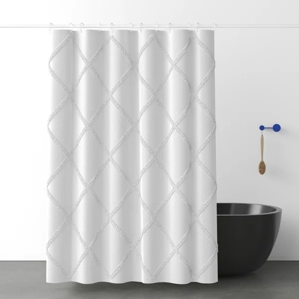 modern contemporary cactus shower curtain