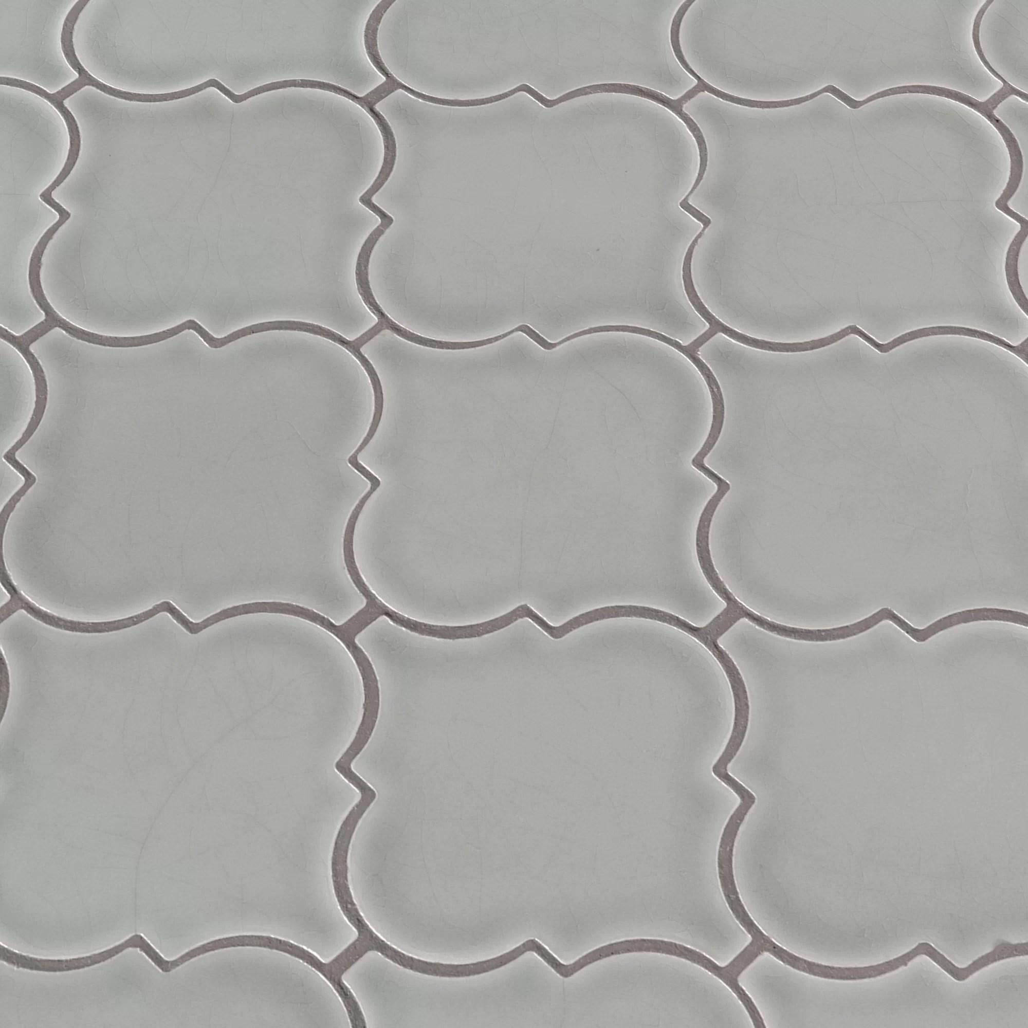 msi highland park 3 x 3 ceramic arabesque mosaic wall floor tile wayfair
