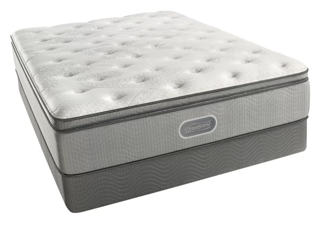 Beautyrest Recharge Ii 13 5 Plush Pillow Top Gel Memory Foam Mattress Set