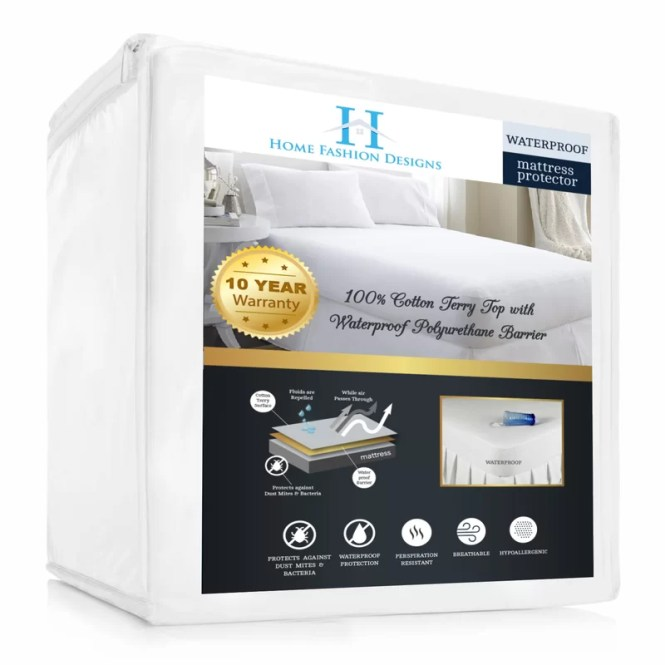 Lexia Premium Deep Pocket Ed Hypoallergenic Waterproof Mattress Protector