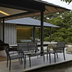 onika 4 piece patio conversation set