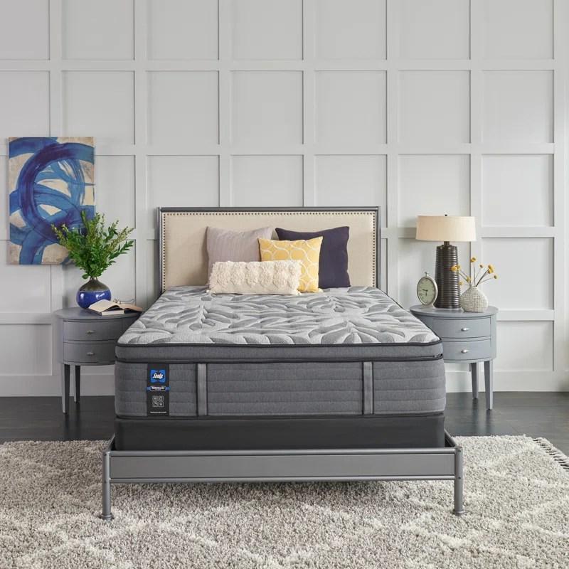 sealy posturepedic plus 14 plush euro pillow top mattress and box spring set