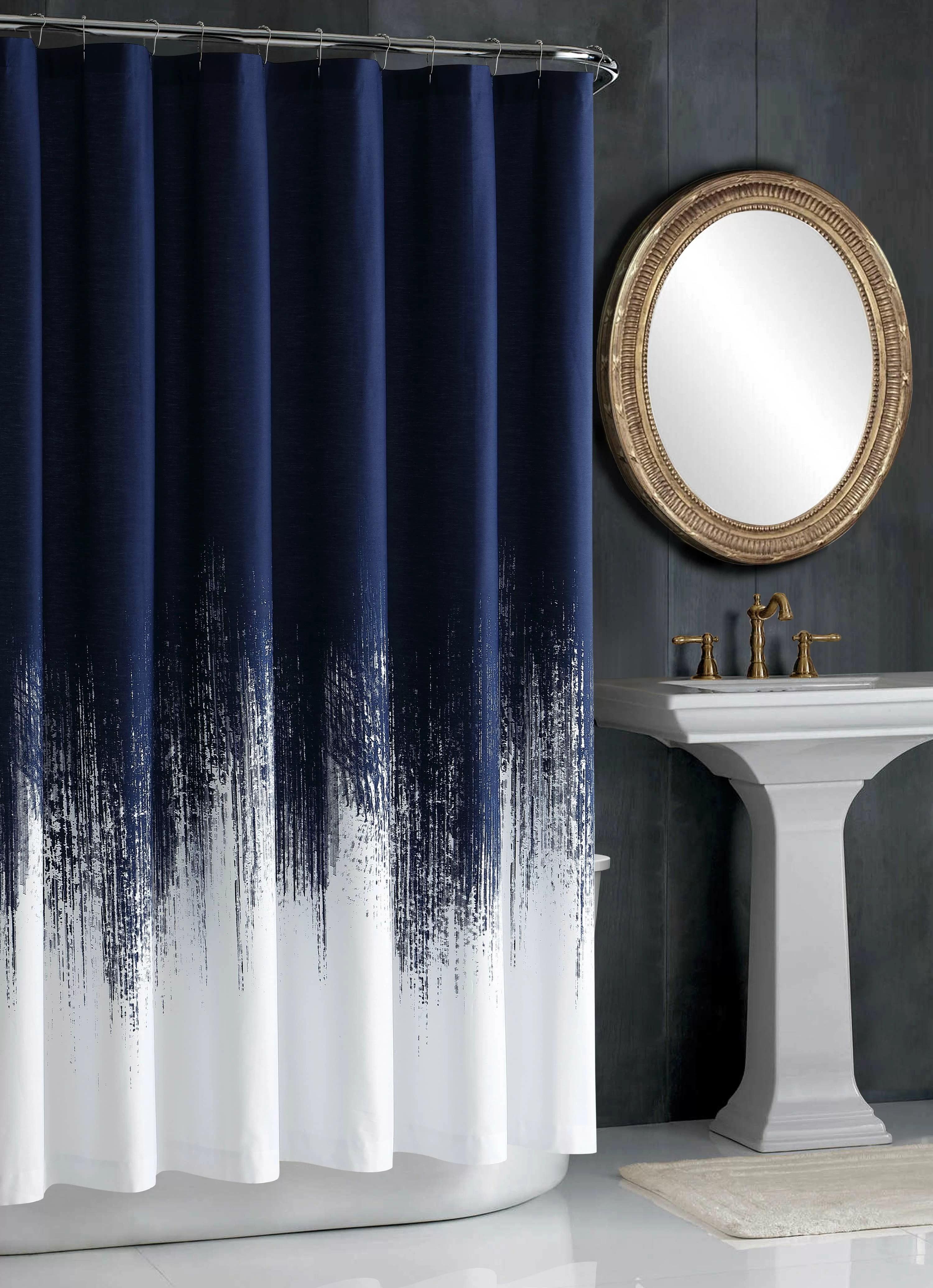 lyon 100 cotton single shower curtain