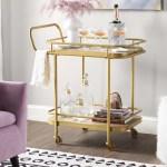 10 Bar Cart Ideas How To Outfit A Glamorous Bar Cart With Photos Wayfair