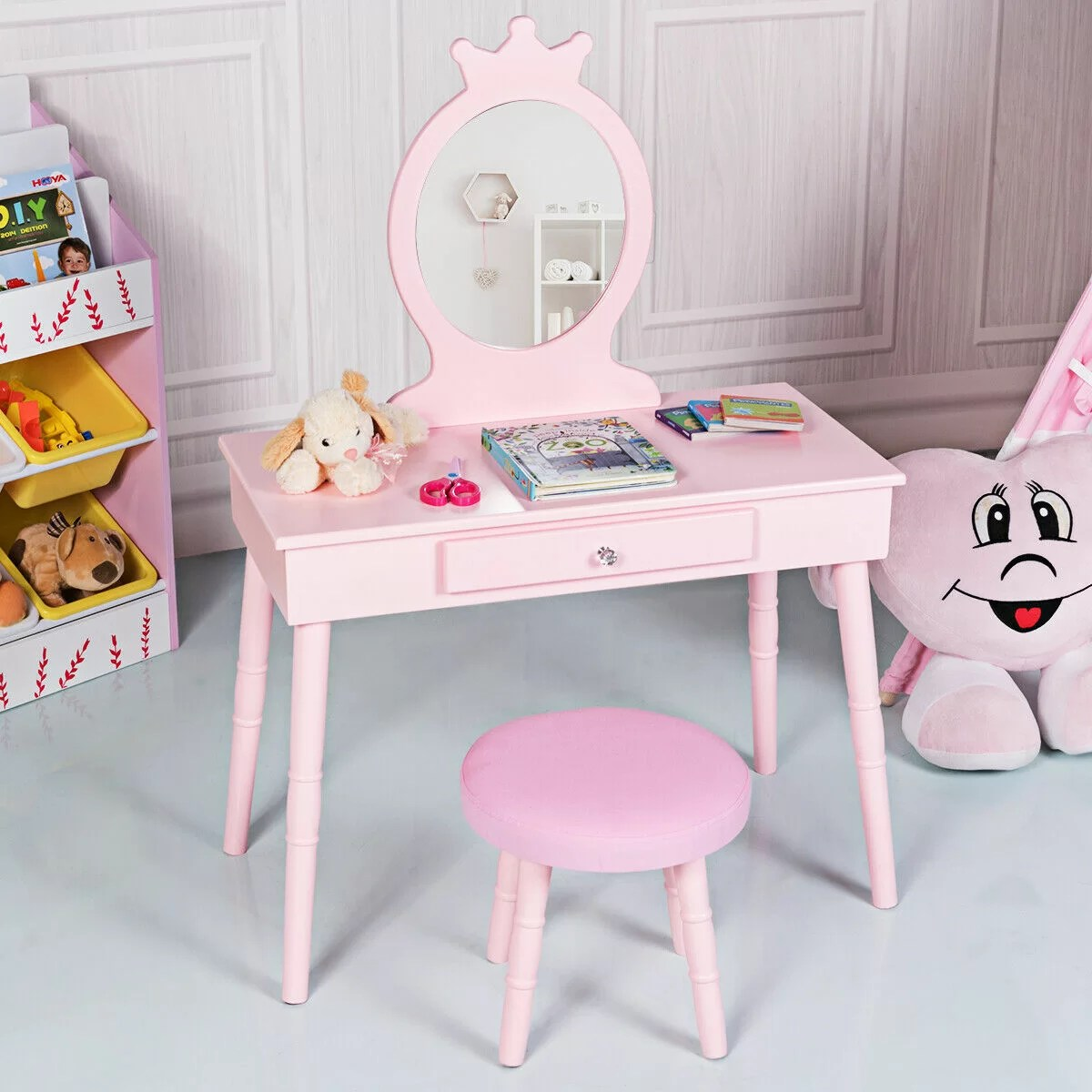 lebrun kids makeup vanity set with mirror