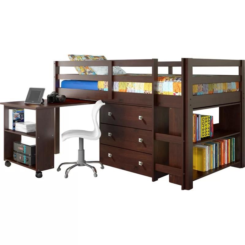 Diy Twin Loft Bed With Desk
