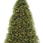 Hinged 10 Green Fir Artificial Christmas Tree With 1200 Colored Clear Lights Reviews Joss Main