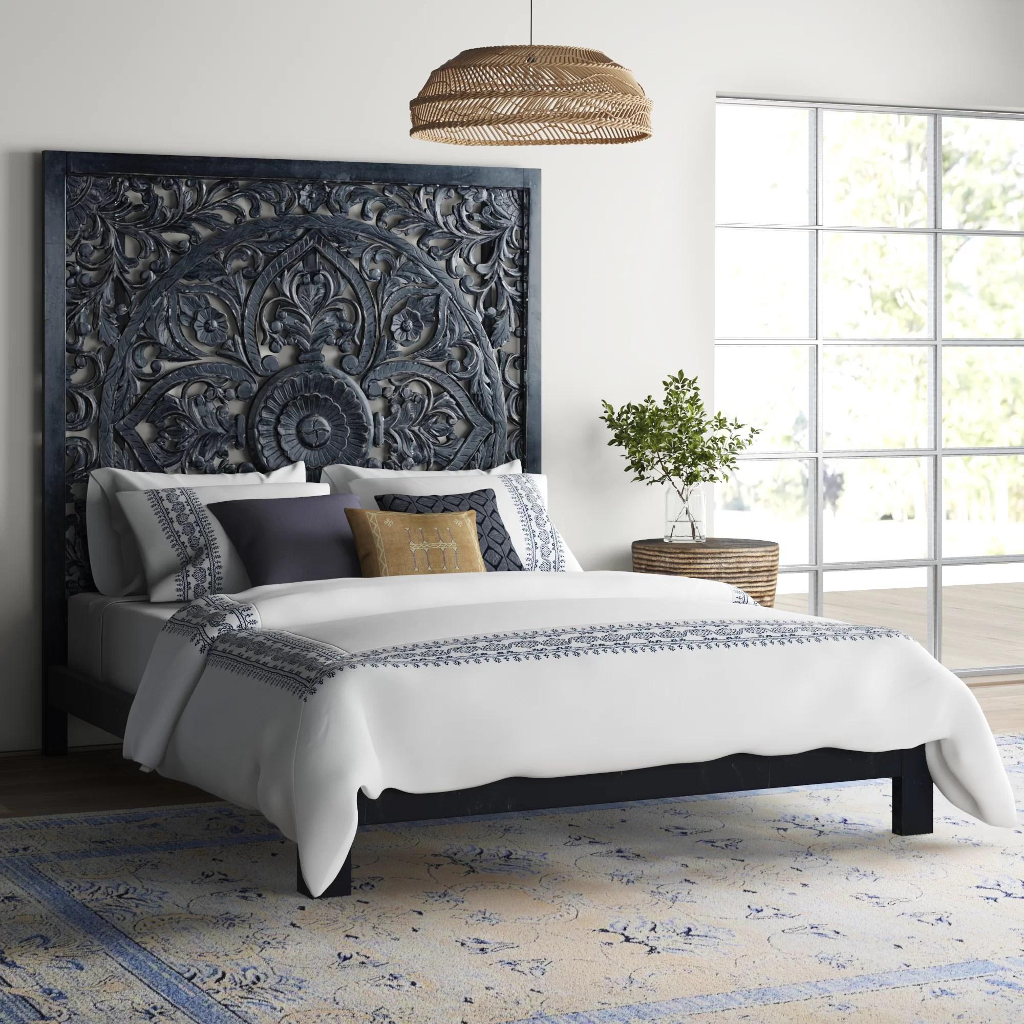 Bungalow Rose Corder Queen Solid Wood Platform Bed Reviews