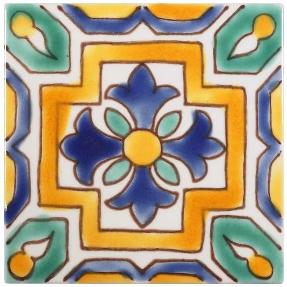 leighton 4 x 4 ceramic decorative accent tile in orange