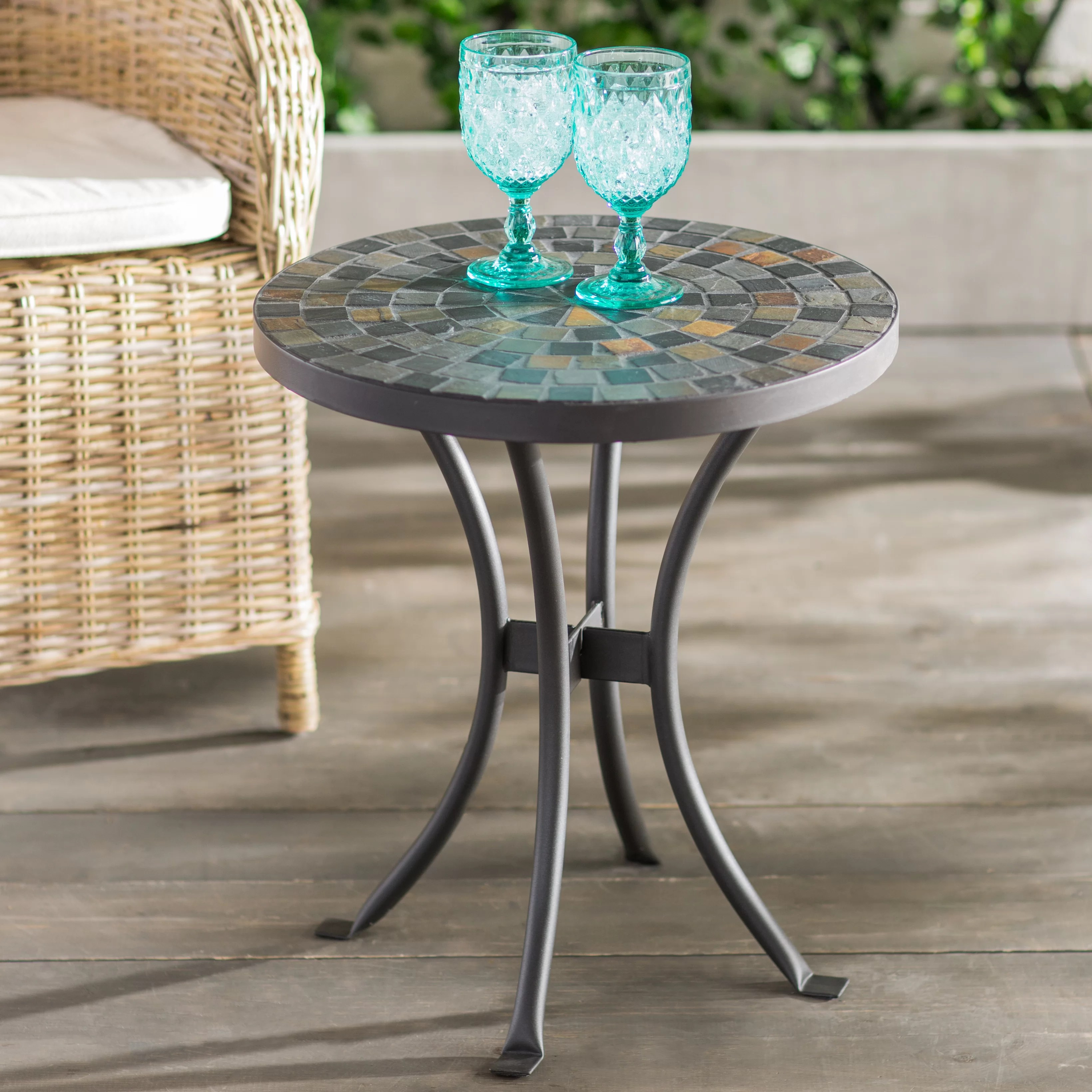 metal side patio tables free shipping