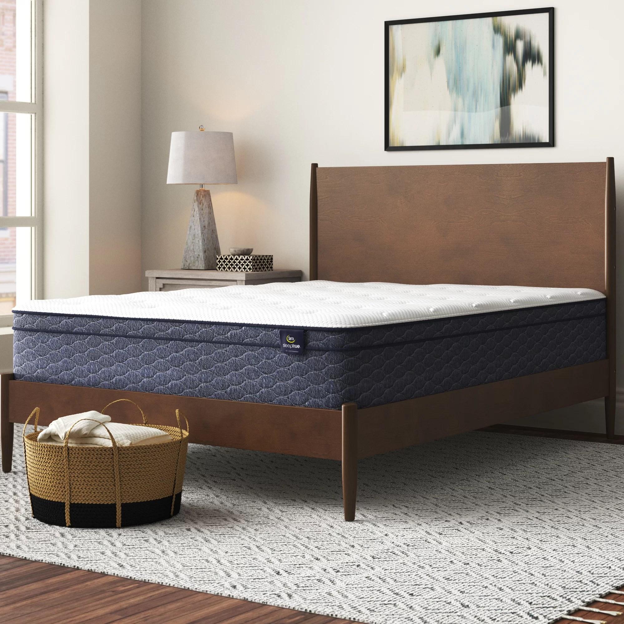 sleeptrue 13 plush pillow top hybrid mattress