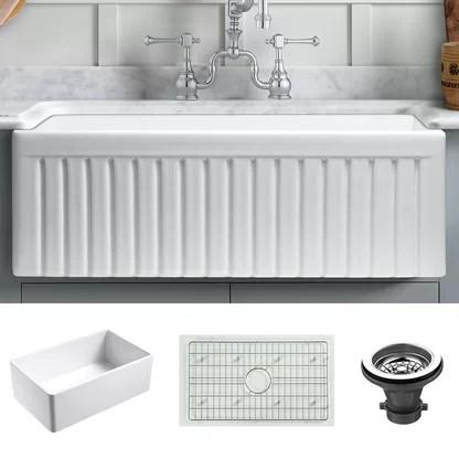 luxury fireclay kitchen sinks perigold