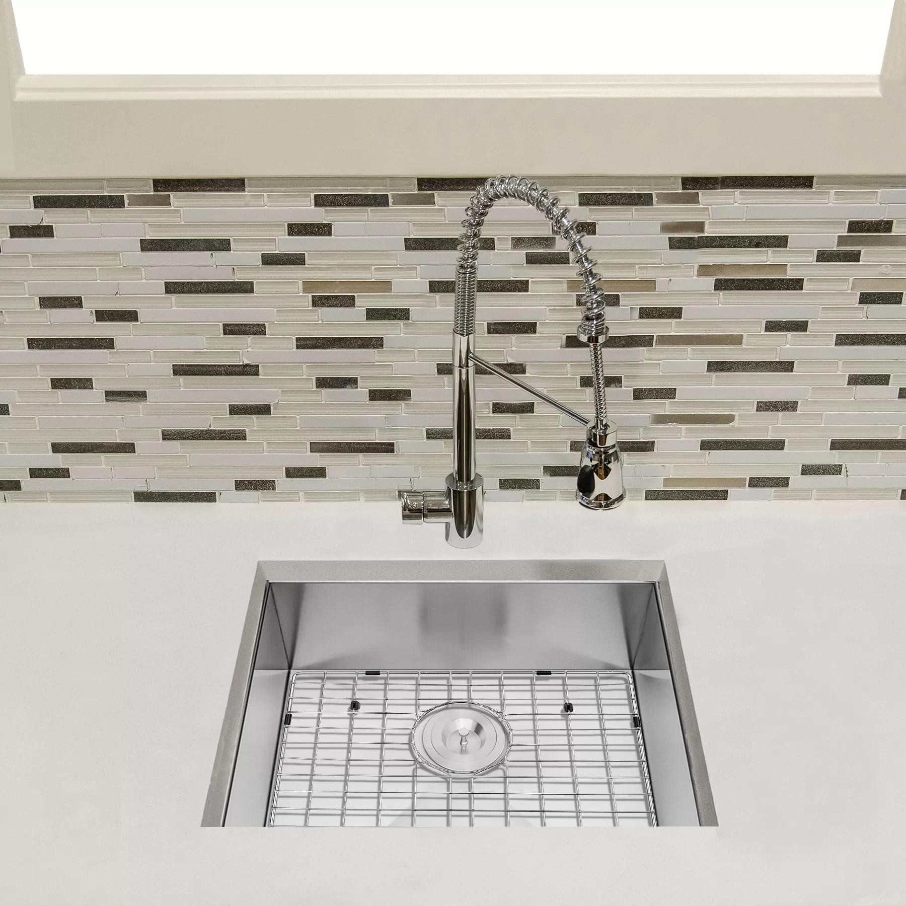 25 lx 22 w undermount kitchen sink with basket strainer