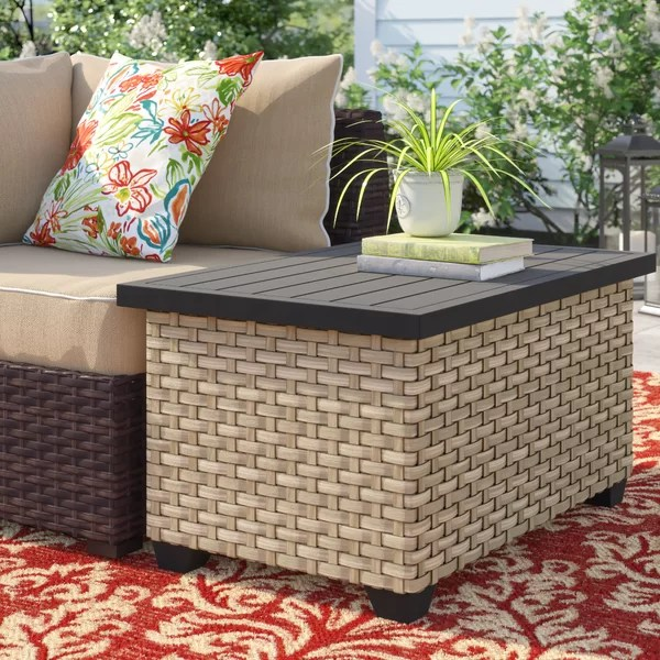 outdoor coffee table storage