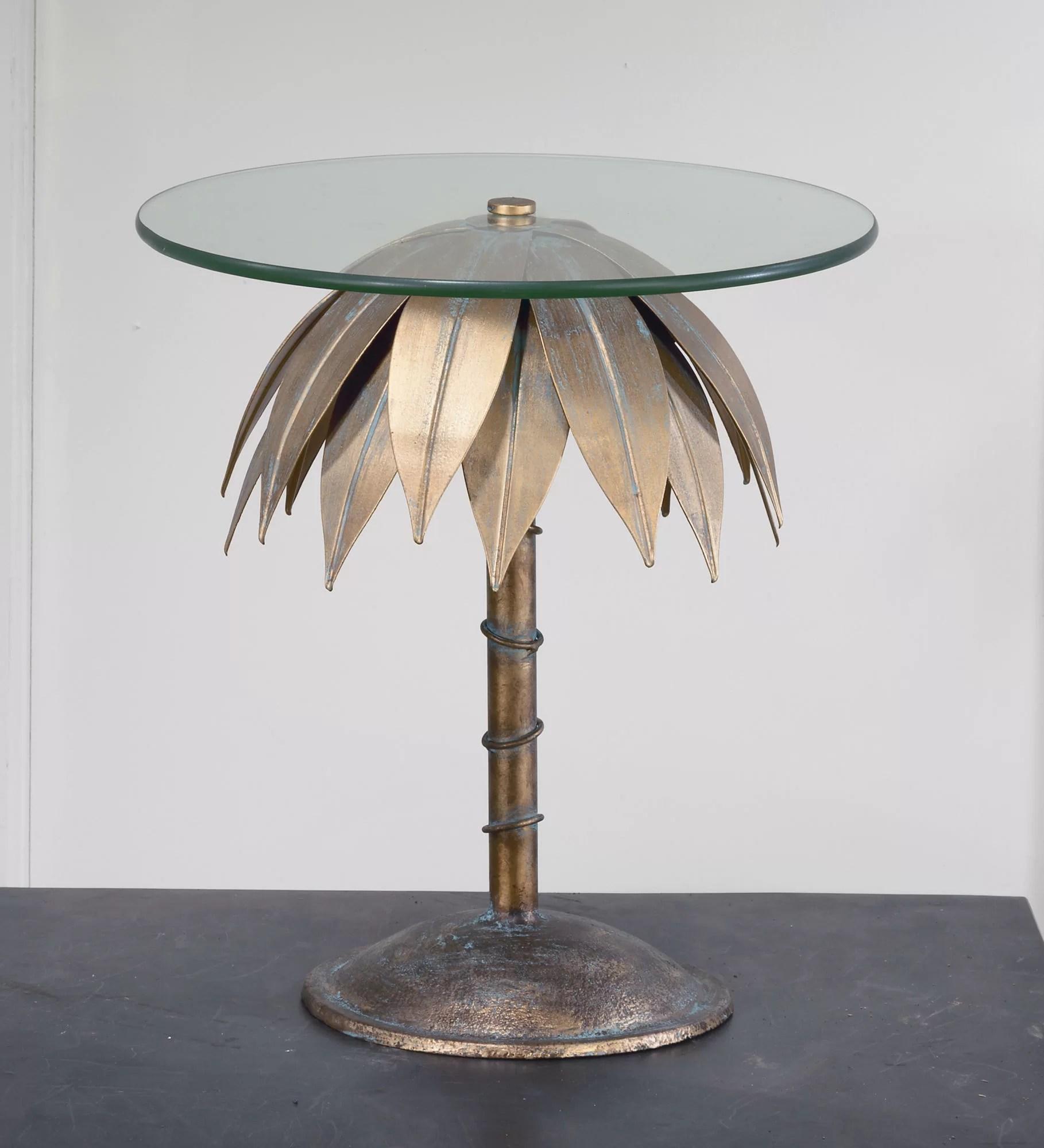 tiberius glass top tree stump end table
