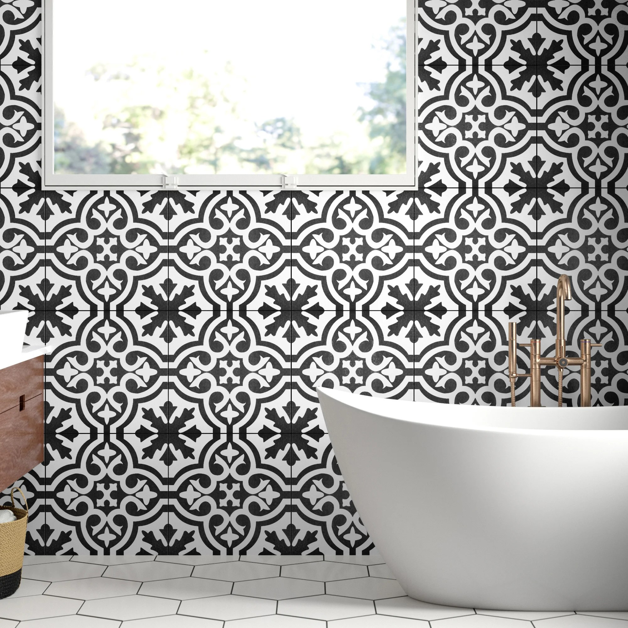 berkeley 18 x 18 ceramic patterned wall floor tile