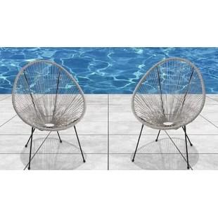carlotta papasan patio chair set of 2