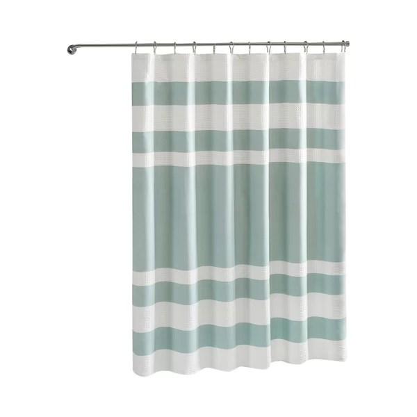 modern gray silver shower curtains