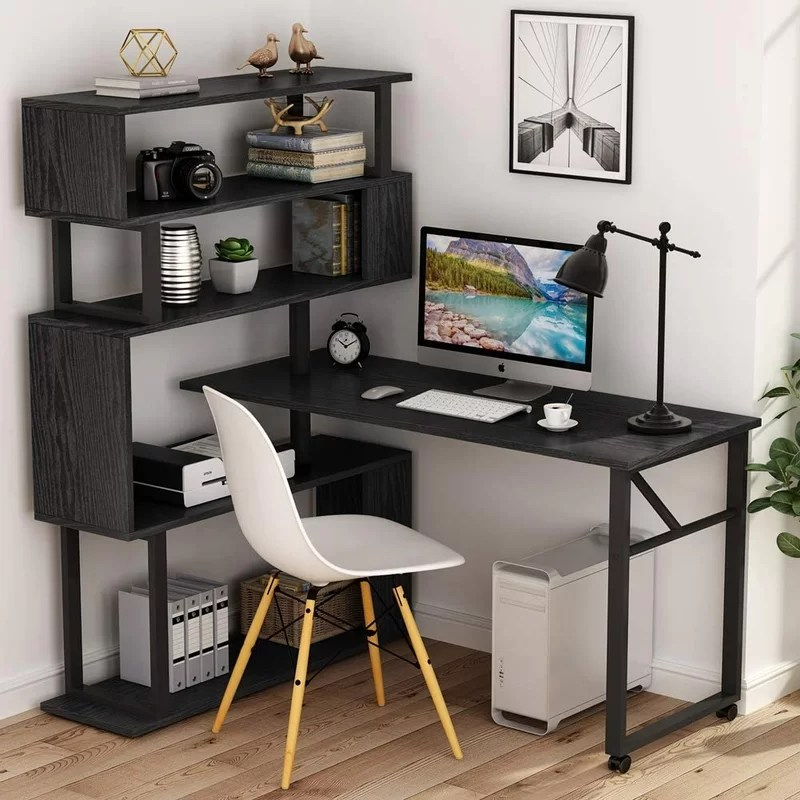 rotating reversible l shaped desk