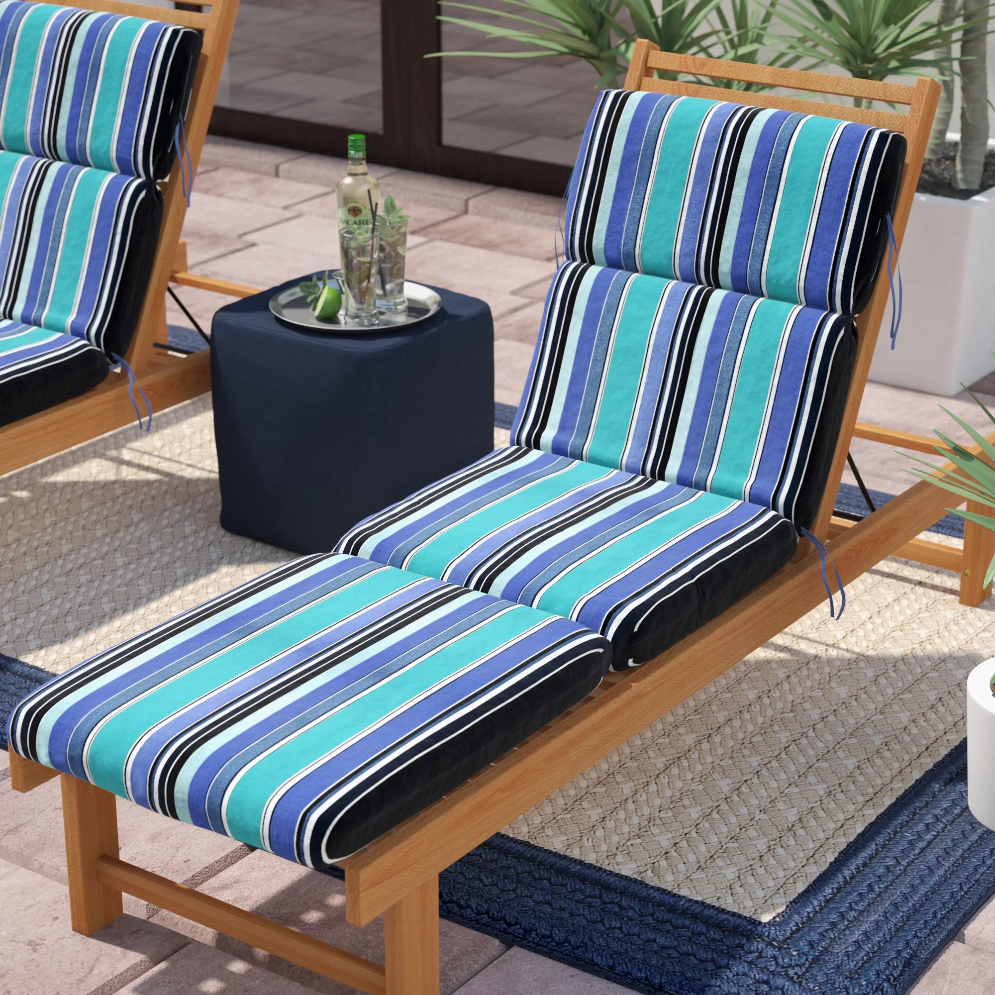 Beachcrest Home Dolce Oasis Indoor Outdoor Sunbrella Chaise Lounge Cushion Reviews Wayfair
