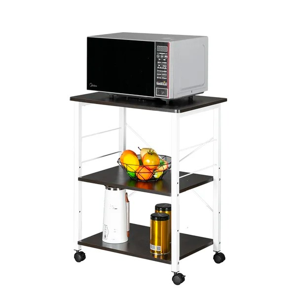 kitchen microwave stand