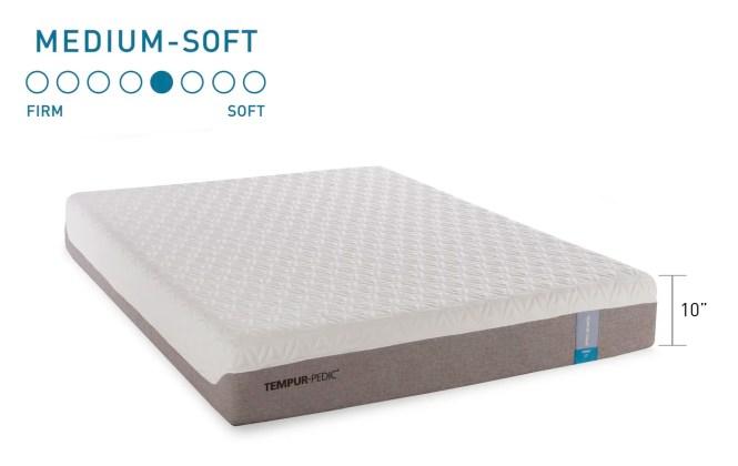 Tempur Cloud Prima 10 Medium Firm Memory Foam Mattress