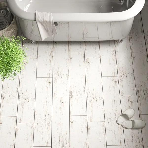 white wood look tile