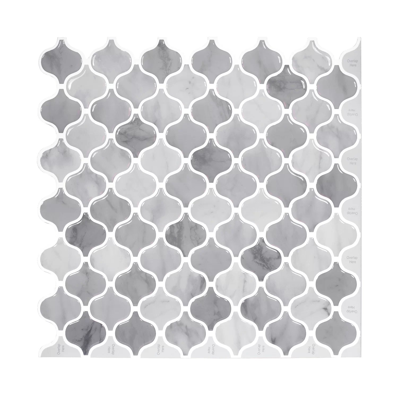damask 12 x 12 pvc peel stick mosaic tile