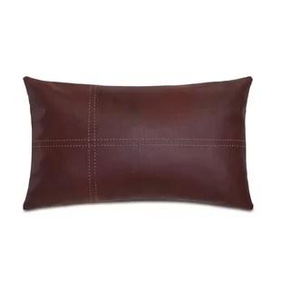 faux leather lumbar throw pillows you
