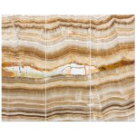 East Urban Home Onyx Marble Decorative Stone Texture With Abstract Lines Graphic Art Print Multi Piece Image On Wrapped Canvas