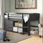 Birch Lane Evan Twin Low Loft Bed With Drawers Reviews Wayfair
