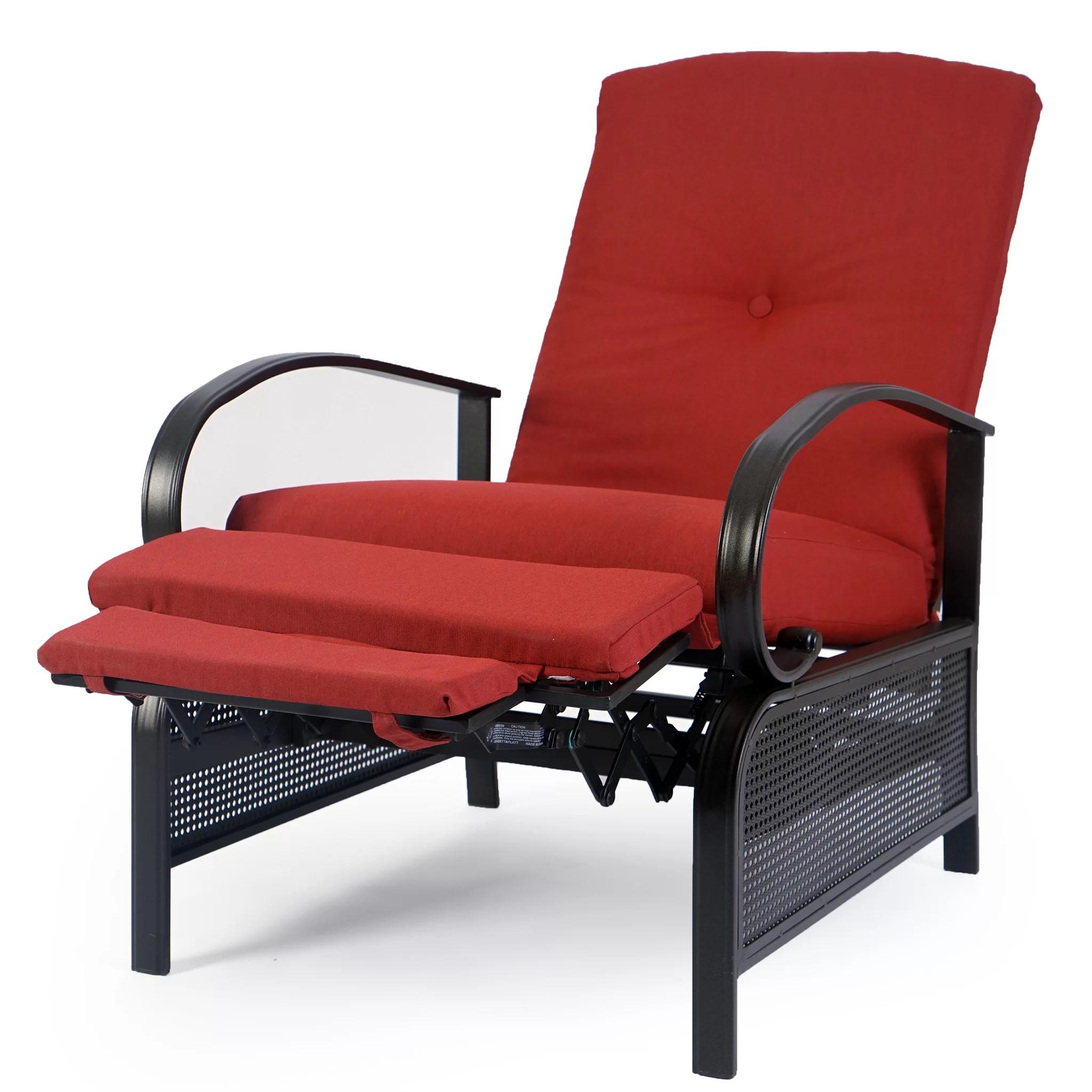 aadhira recliner patio chair with cushions