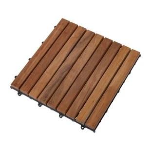 square 11 8 x 11 8 teak wood interlocking deck tile