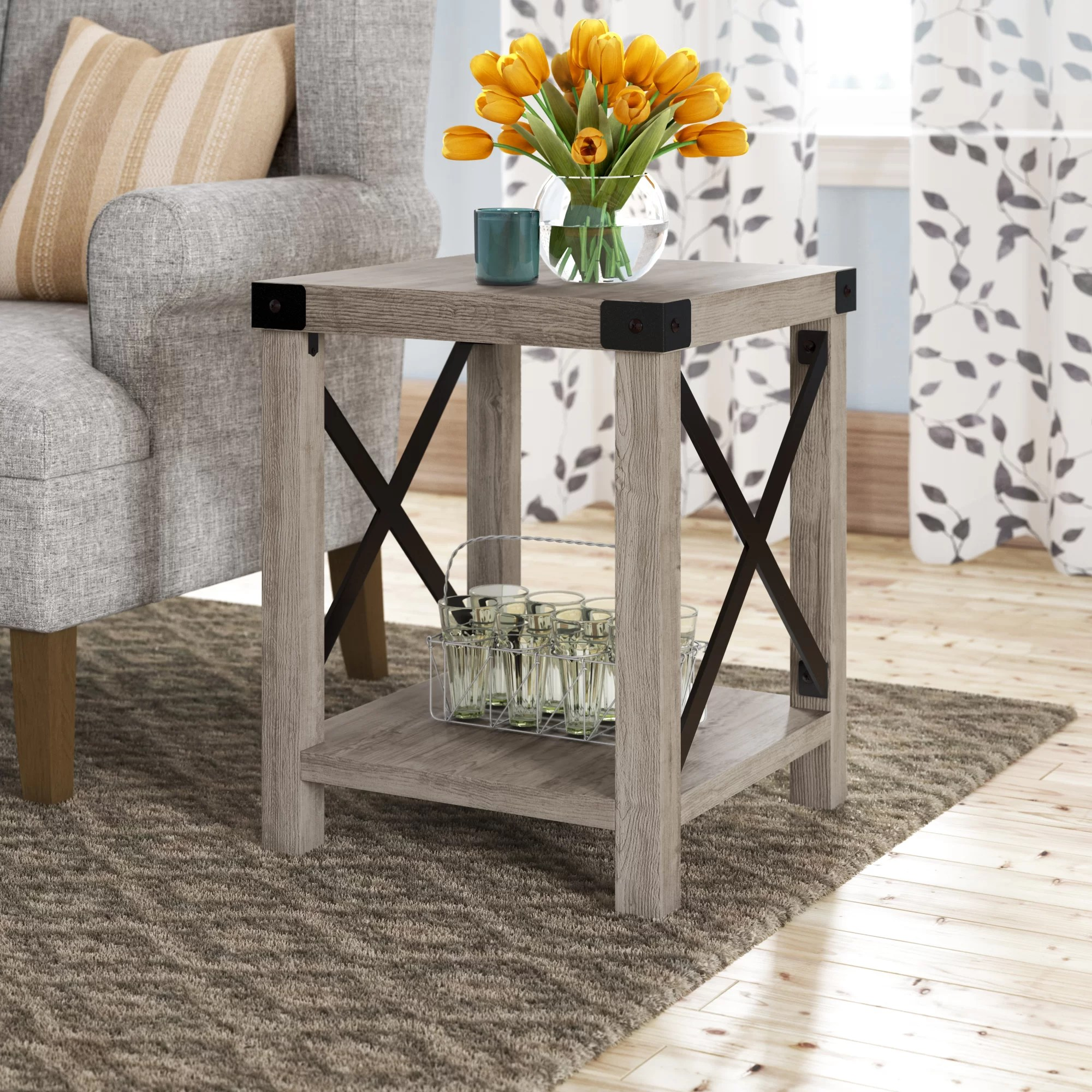 Foundry Select Arsenault End Table With Storage Reviews