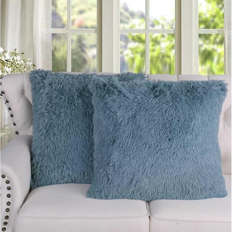 leonetti shaggy square pillow cover