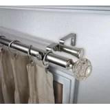 180 inch double curtain rod wayfair