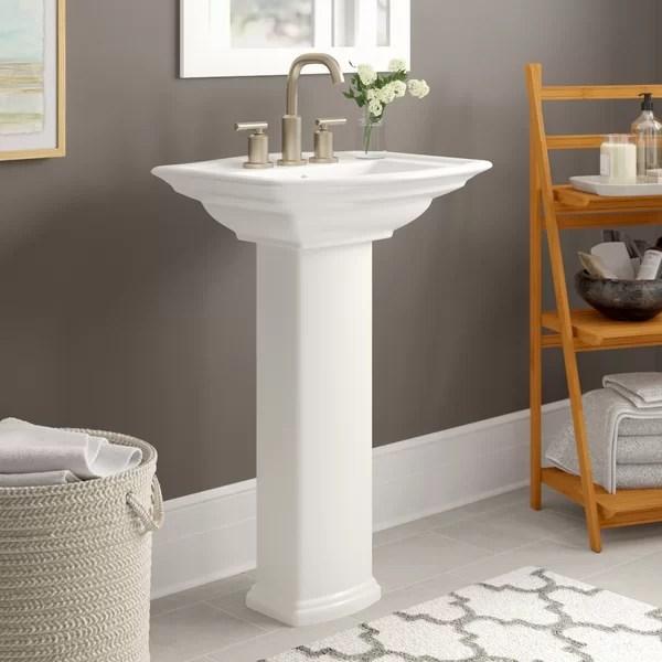 single hole pedestal sink