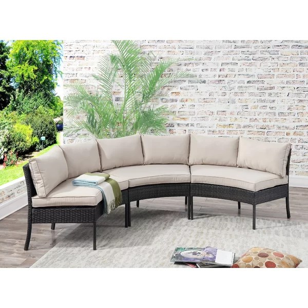 purington outdoor curved patio sectional with cushions
