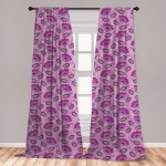 East Urban Home Ambesonne Purple 2 Panel Curtain Set Floral Composition Damask Inspired Illustration Of Nature Victorian Lightweight Window Treatment Living Room Bedroom Decor 56 X 63 Purple Lilac Dark Purple Wayfair