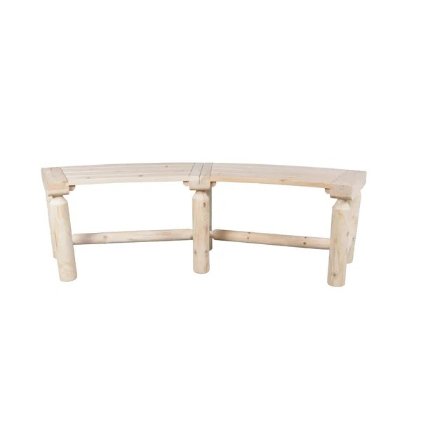 outdoor curved bench