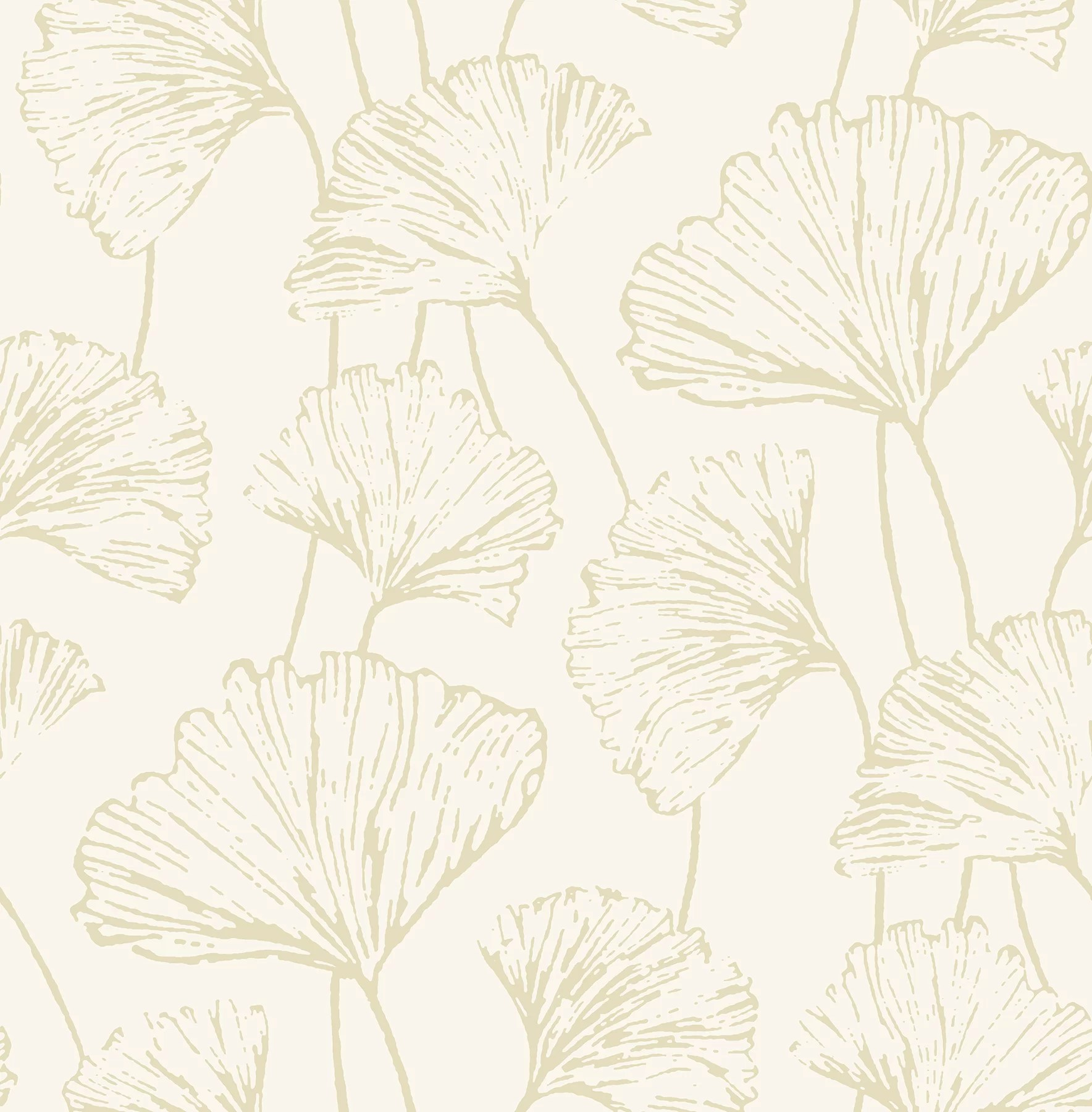Ophelia Co Kalgoorlie Ginkgo 33 L X 20 5 W Floral And Botanical Wallpaper Roll Reviews Wayfair