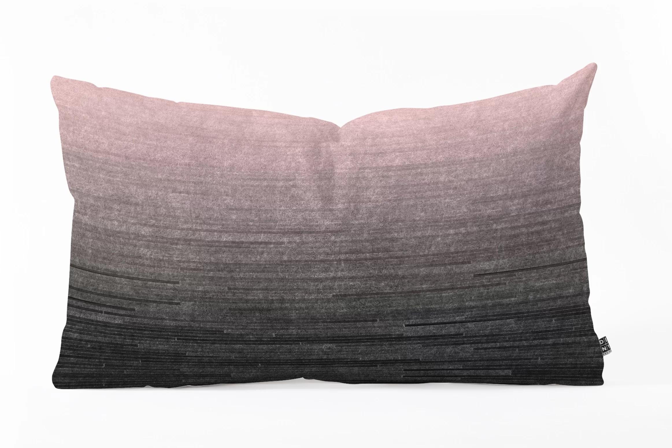 iveta abolina blush ombre oblong indoor outdoor lumbar pillow