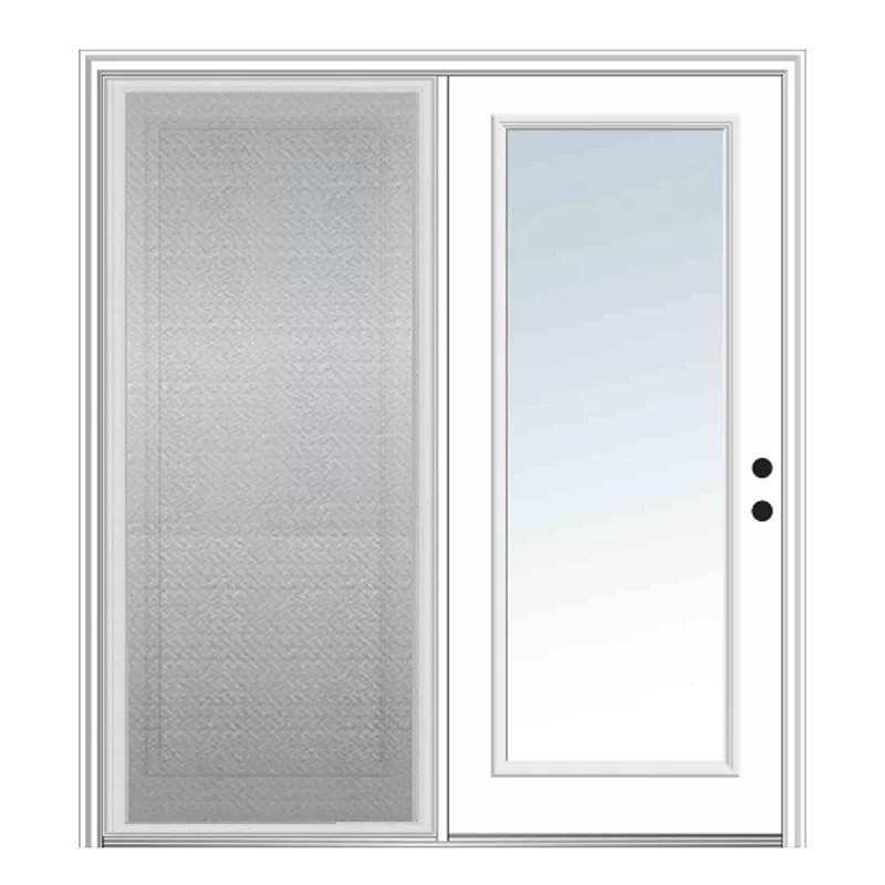 clear prehung patio door