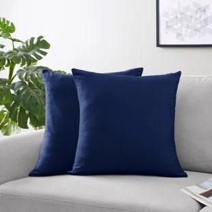 stripe collection navy blue throw pillows set of 2 set of 2