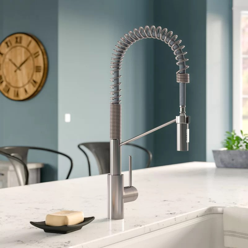 oletto pull down single handle kitchen faucet with quickdock