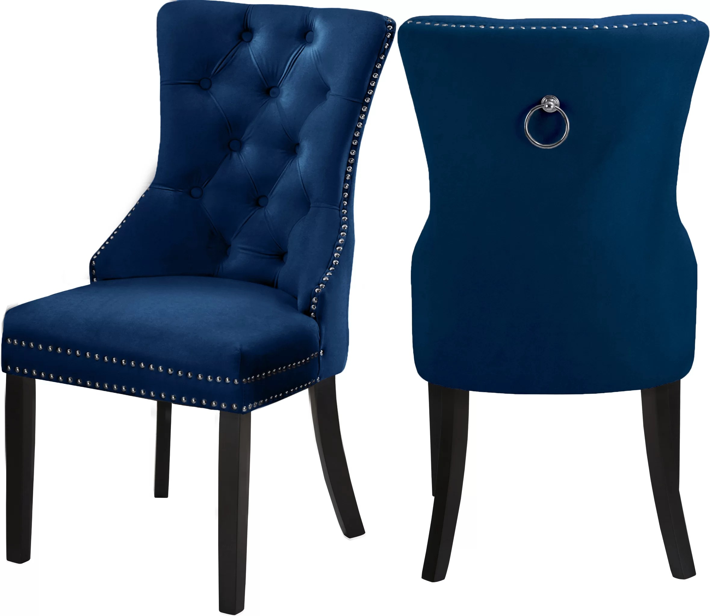 Stonefort Tufted Velvet Upholstered Dining Chair