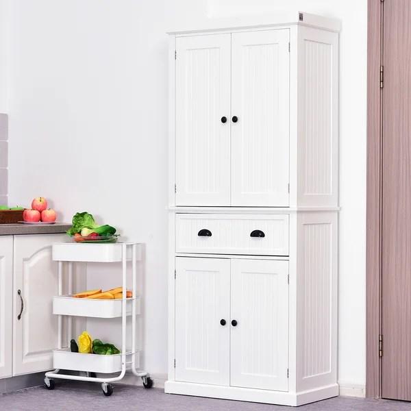 Kitchen Tall Pantry Cabinets Wayfair