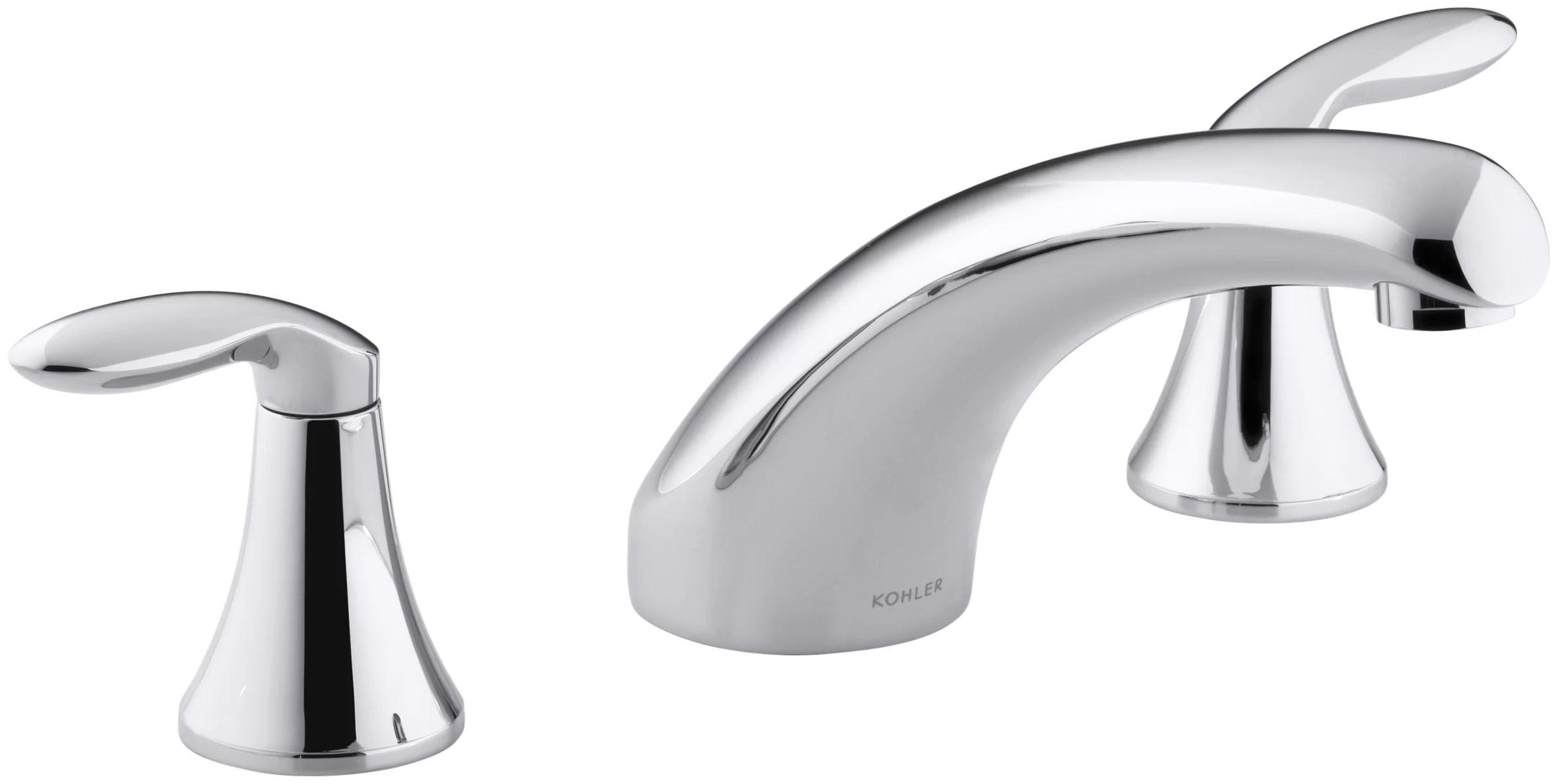 coralais deck mount roman tub faucet trim with lever handles