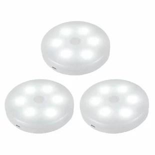 smart touch 6 light led under cabinet puck light set of 3