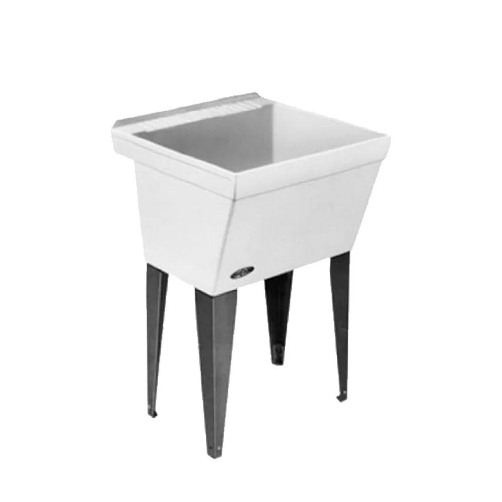 utilatub 23 x 23 5 free standing laundry sink